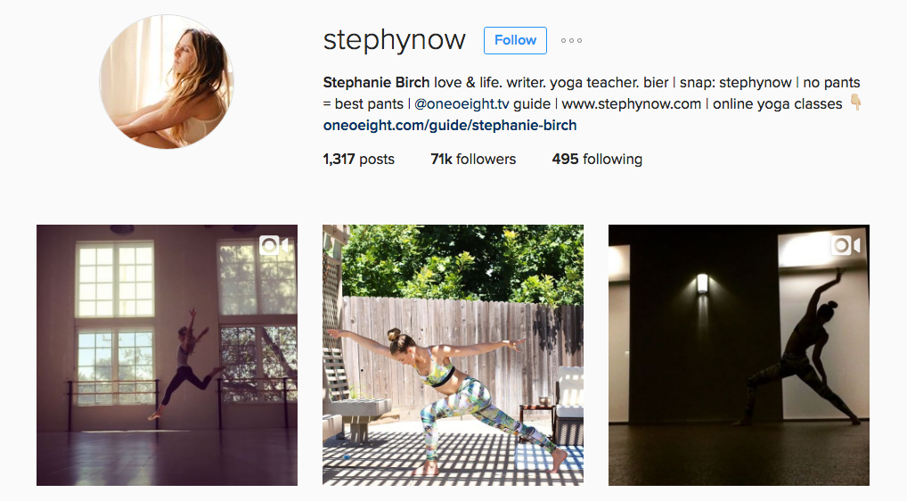 stephynow Instagram Account Yoga