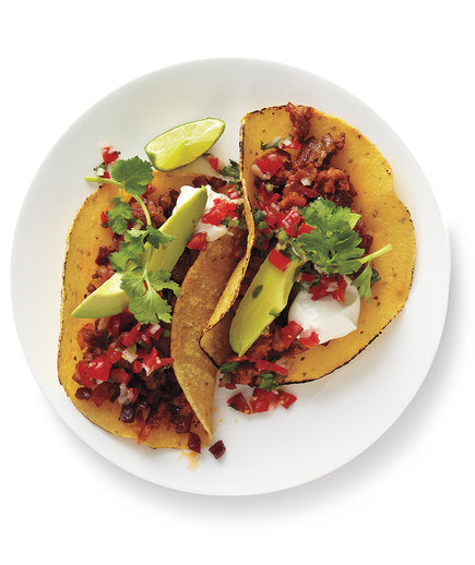 Turkey-Chorizo Tacos