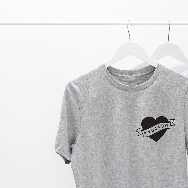 heart avocado tee