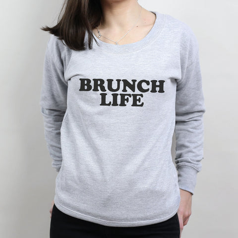 Brunch Life Scoop Neck Sweater