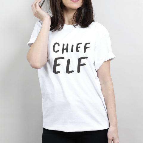Chief Elf Christmas T-Shirt