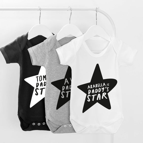 Personalised Daddy's Star Baby Grow