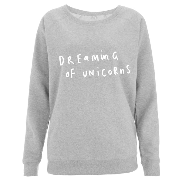 Dreaming Of Unicorns Women's Scoop Neck Sweatshirt