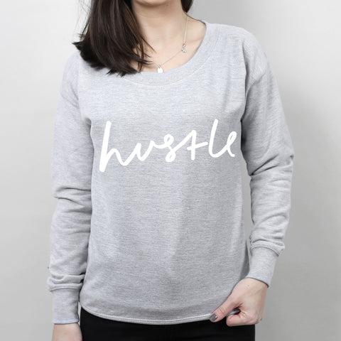 Hustle Women's Scoop Neck Sweatshirt
