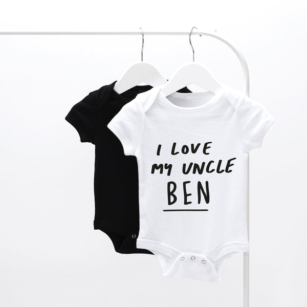 Personalised I Love My Uncle Baby Grow
