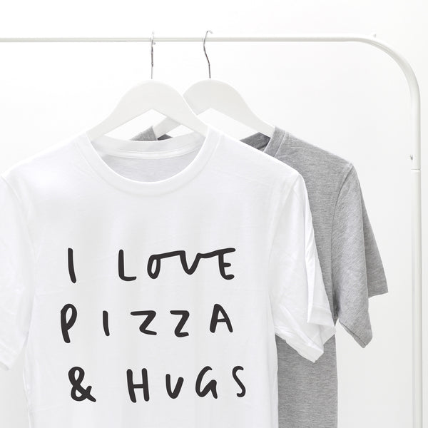 i love pizza and hugs t shirt