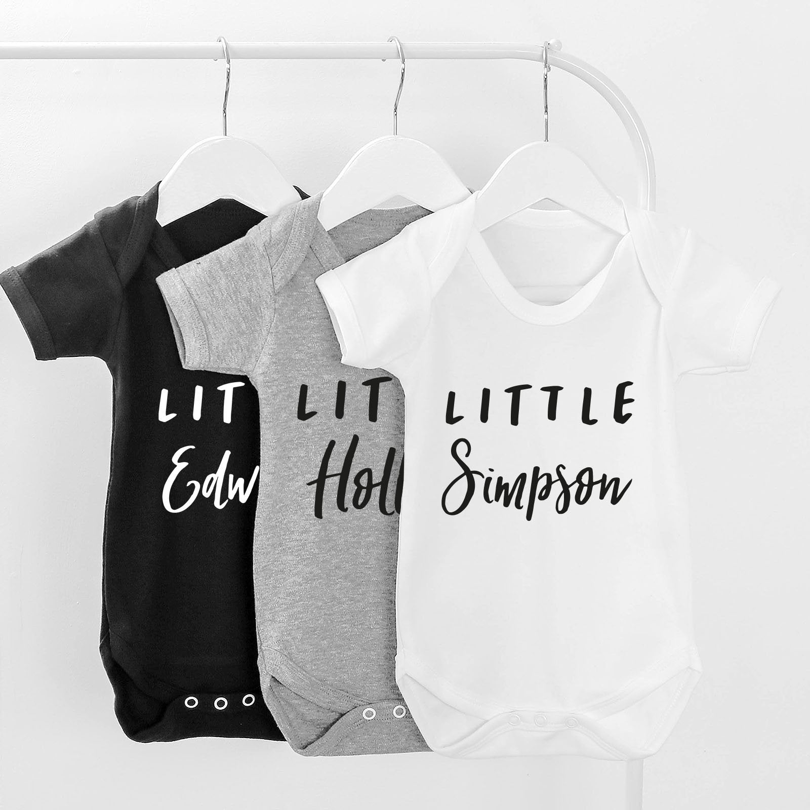 personalised little baby grow