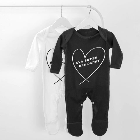 Loves Daddy Personalised Baby Grow