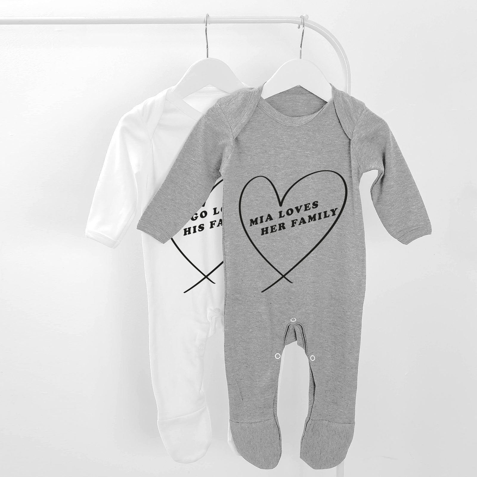 Family Personalised Baby Grow