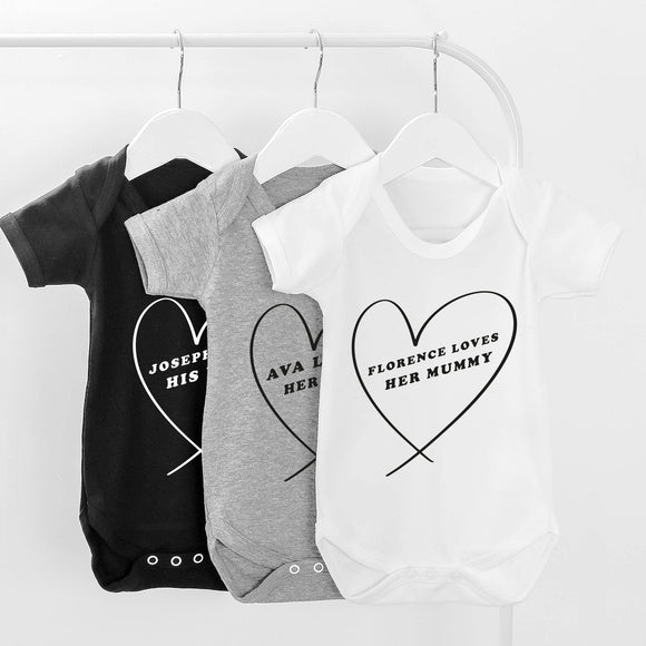 Loves Mummy Personalised Baby Grow