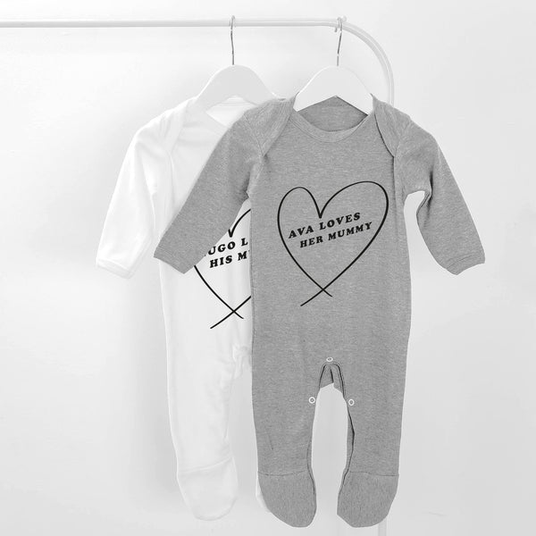 Mummy Personalised Baby Grow