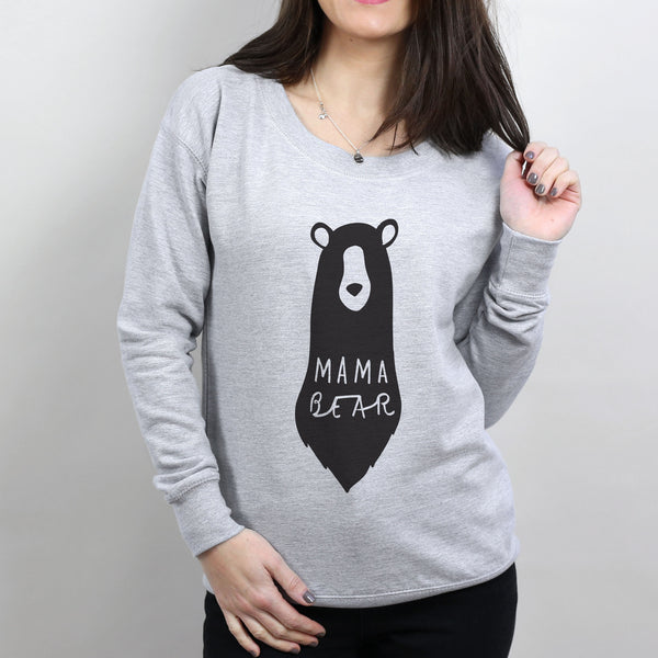 mama bear scoop neck sweater