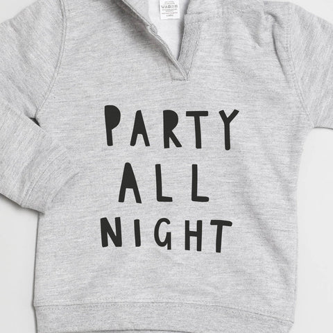 Party All Night Baby Hoodie