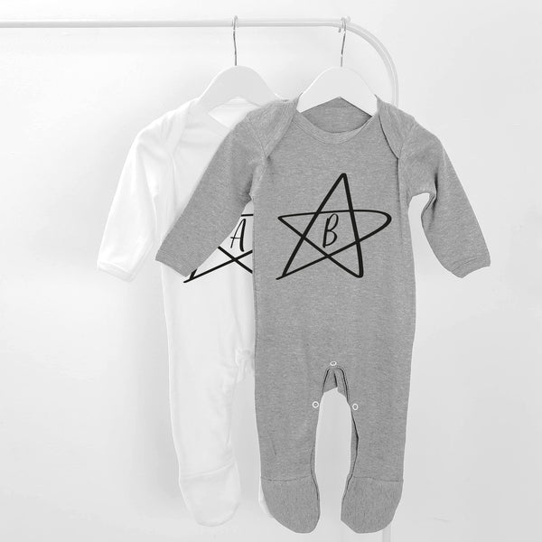 Initial Star Baby Grow