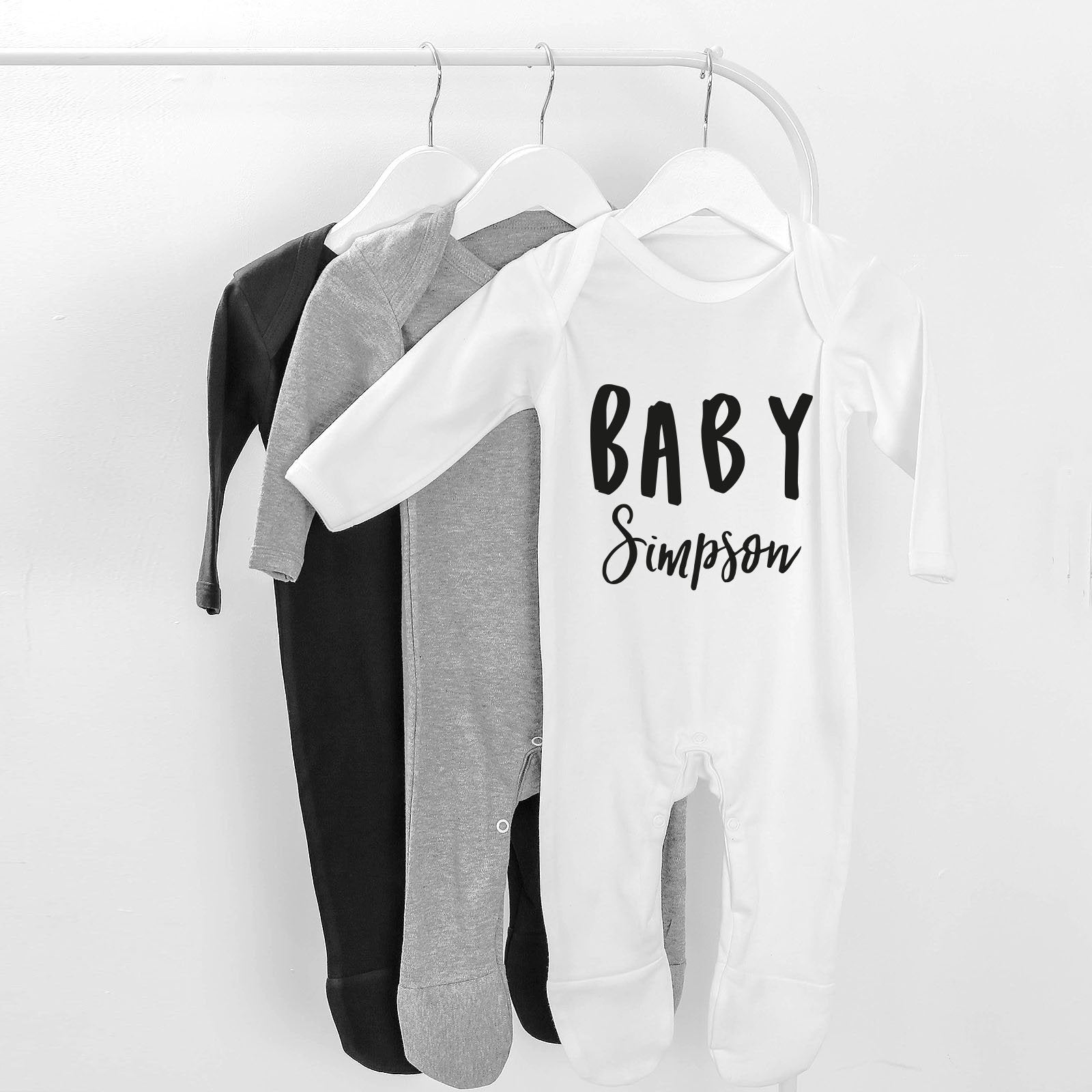 personalised name baby grow