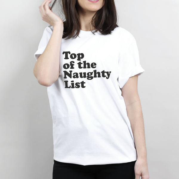 Naughty List Quote T-Shirt