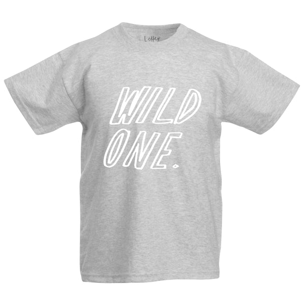 Wild One Child's T-Shirt - Hand Lettered Typography Clothing
