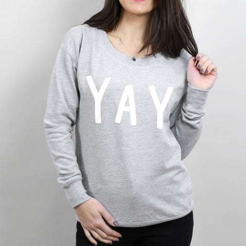 YAY Women's Scoop Neck Sweatshirt