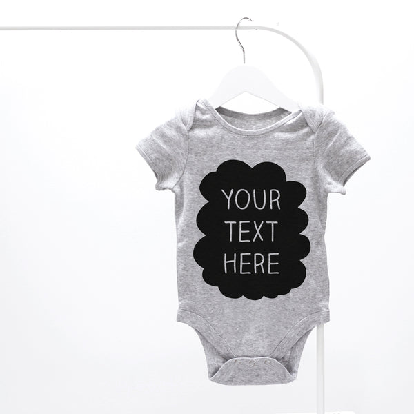 Personalised Your Text Here Baby Grow