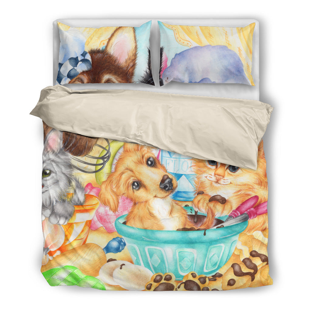 Dog Print Bedding Set