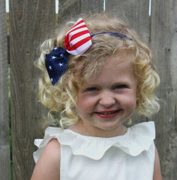 Patriotic Bow Headband