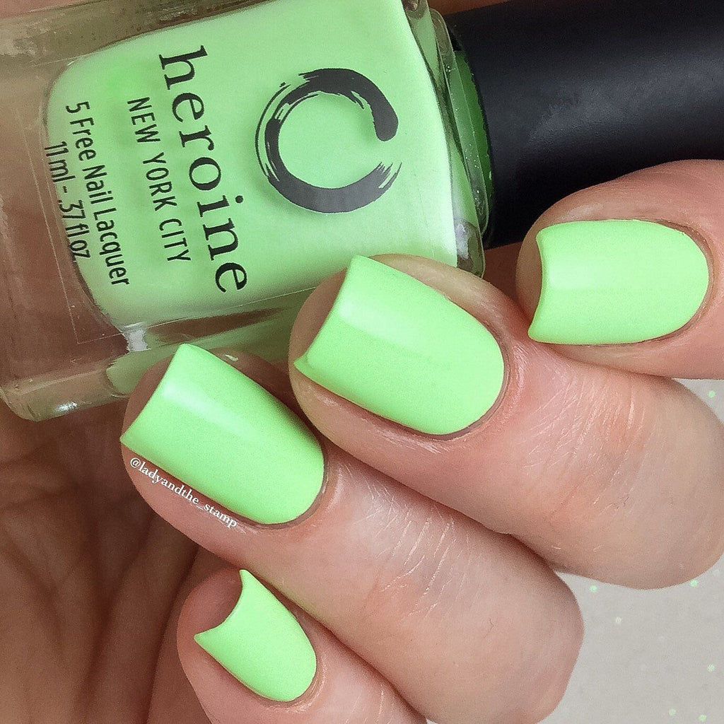neon lime green nail polish | SUBLIME by heroine.nyc | heroine.nyc