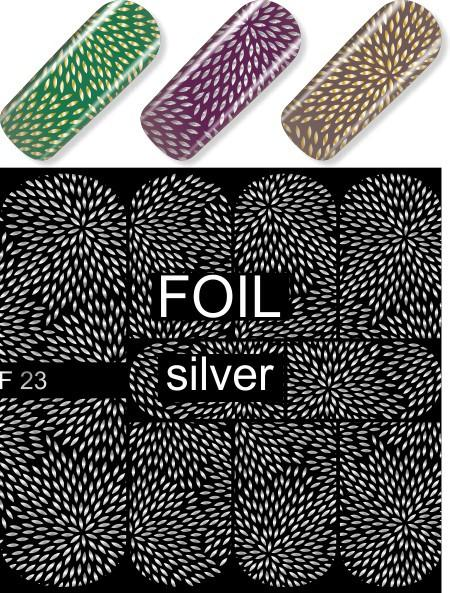 Water Decals - Silver Petals