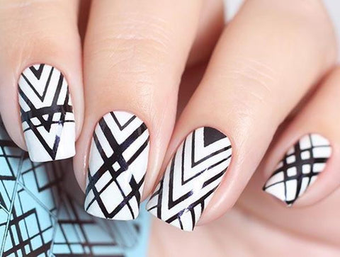 Water Decal - Geometric Black