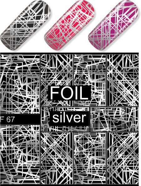 Water Decal - Silver Mesh