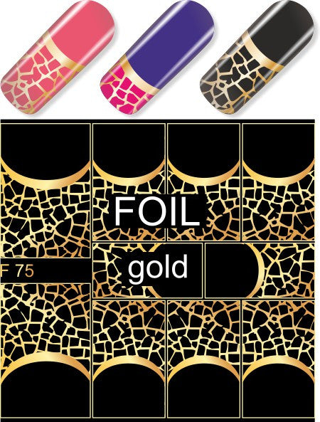 Water Decals - Gold Half Moon Mesh