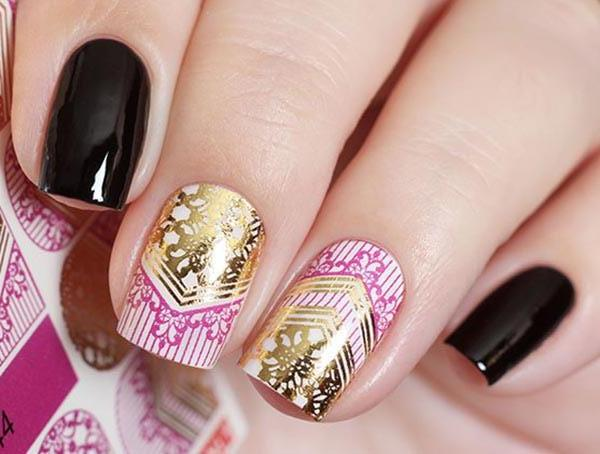 Water Decals - Gold And Pink Pattern