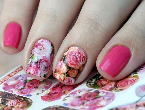 Water Decals - Pink Floral