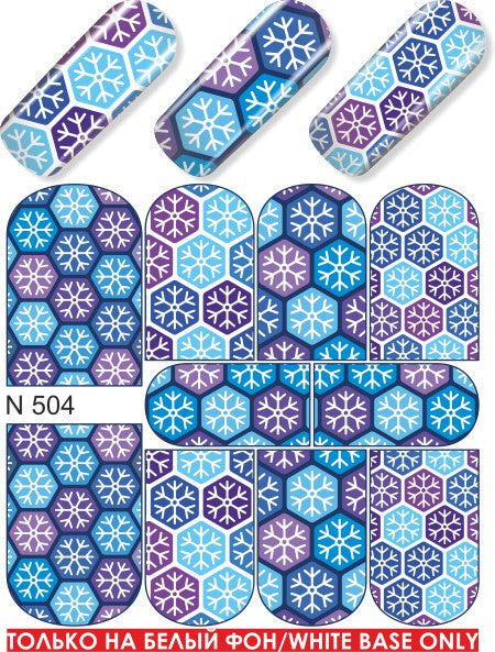 Water Decal - Snowflake Pattern