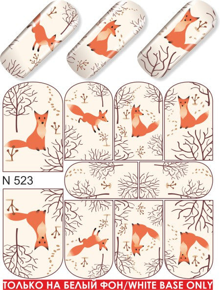 Water Decals - Foxes