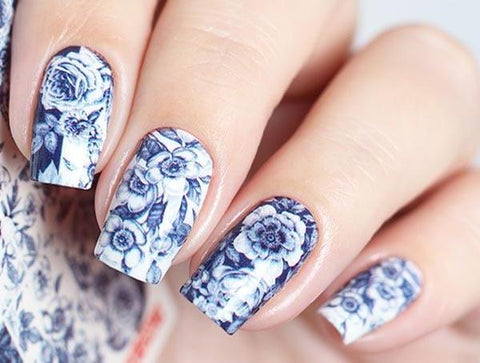 Water Decals - Blue Floral