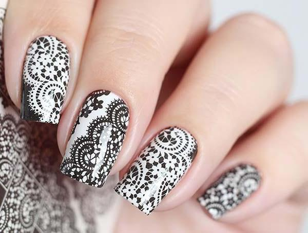 Water Decals - Black & White Lace