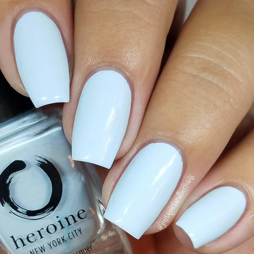 pastel blue nail polish | PEEK-A-BLUE by heroine.nyc ...