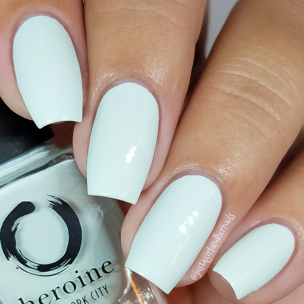 pastel mint nail polish | EMPOWER-MINT by heroine.nyc | heroine.nyc