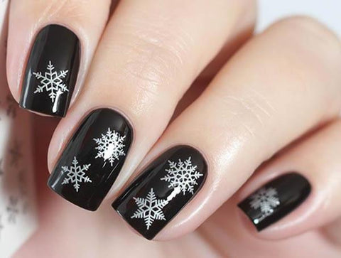 Water Decals - Silver Snowflakes