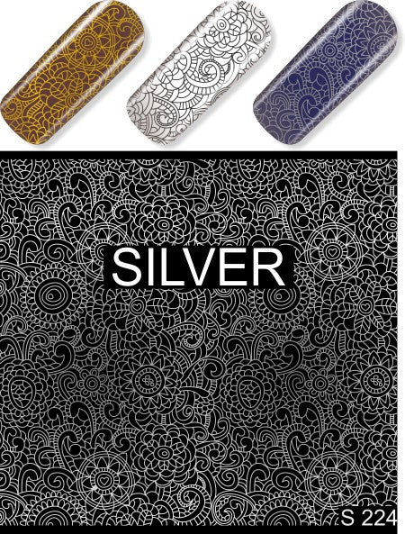 Water Decals - Silver Pattern
