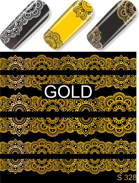 Water Decals - Gold Lace