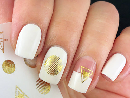 Water Decals - Gold Geometrics