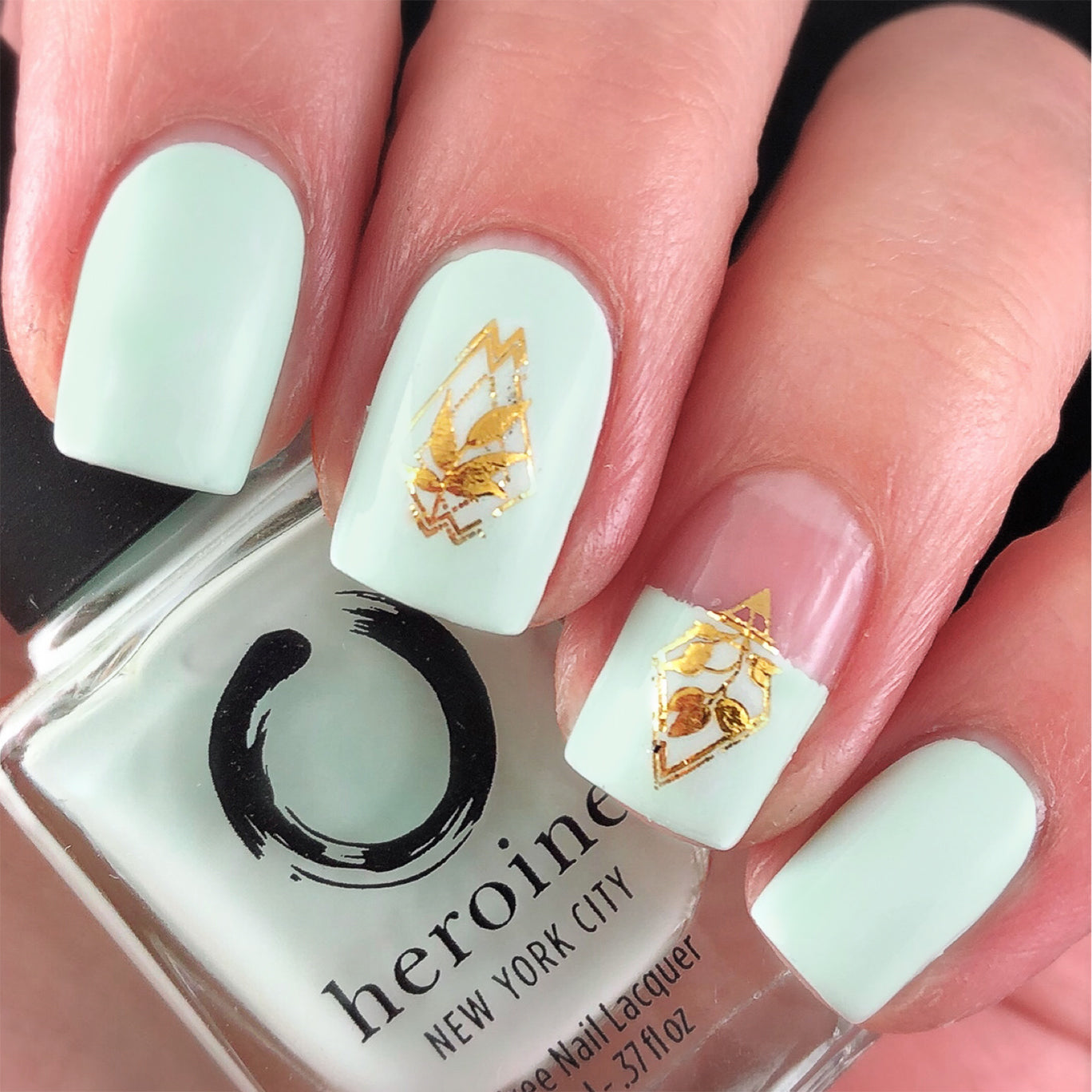 Water Decals - Gold Floral Geometrics