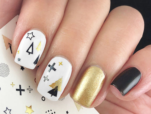 Water Decals - Gold Christmas
