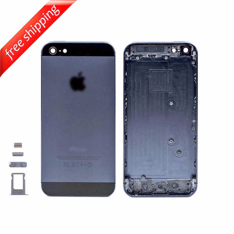 Back Housing Replacement Battery Case Cover Rear Frame For iPhone 5 - Black