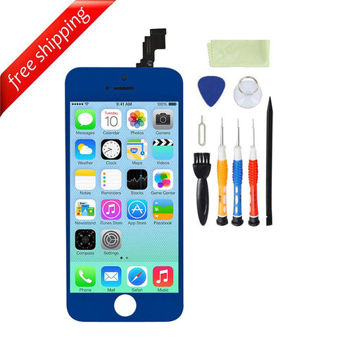 LCD For iPhone 5c Replacement Screen Touch Digitizer - Blue