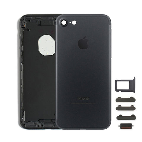 Back Housing Replacement Battery Case Cover Rear Frame For iPhone 7 - Black