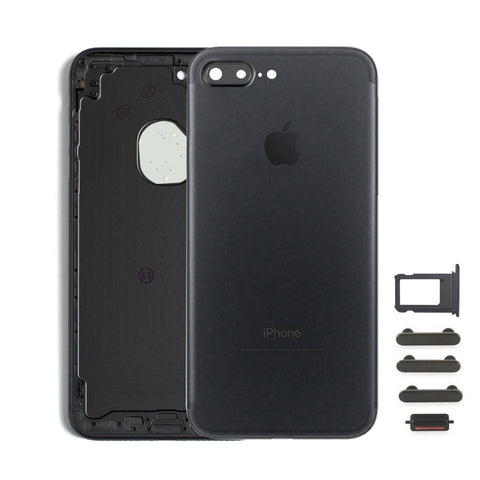Back Housing Replacement Battery Case Cover Rear Frame For iPhone 7 Plus - Black