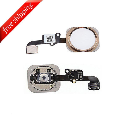 Replacement Home Button With Flex Cable For iPhone 6s - Gold