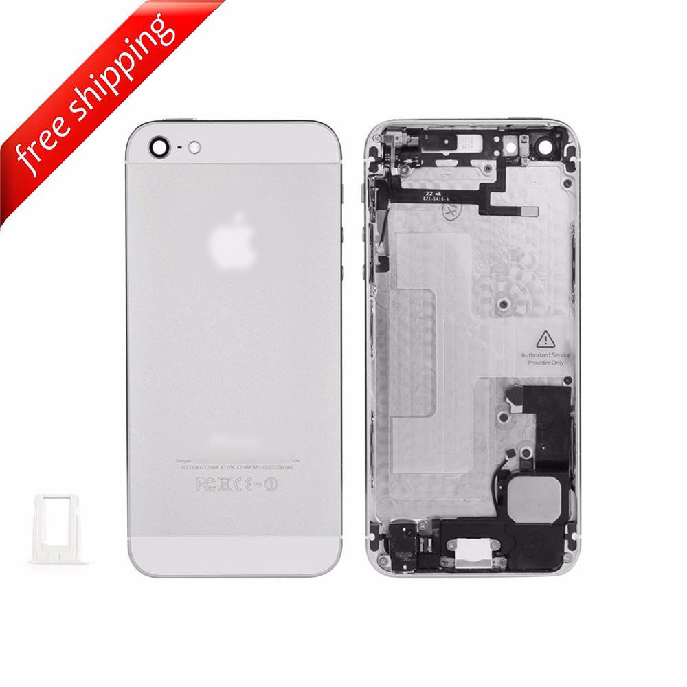 Back Housing Replacement Battery Case Cover Rear Frame With  Spare Parts  For iPhone 5 - White